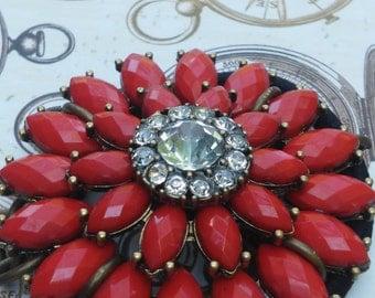 Bun Cage, Red Flower Bun Cover
