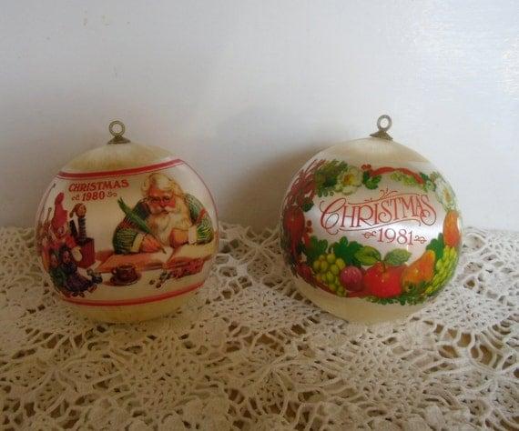 Vintage Christmas Ornaments 2 Hallmark Ornaments 1980 And