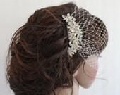 Wedding birdcage veil Bridal Fascinator Wedding hair comb Bridal birdcage veil Wedding Fascinator Bridal veil Wedding hair accessory Bridal