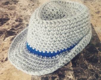 crochet baby fedora