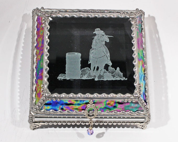 Etched Barrel Racer - Treasure Box