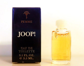 Vintage 1980s JOOP Femme by JOOP 0.1 oz Eau de Toilette Mini Miniature Perfume and Box