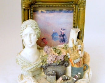 Bookends with Built-in Picture Frames, Bookends, Artist Bookends, Picture Frames, Still Life