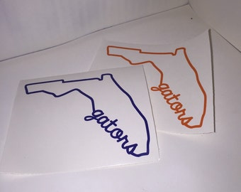 florida gators logo outline. florida state outline gators decal logo