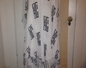 Indonesian graphic abstract soft rayon dress size medium