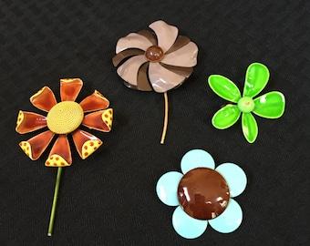 Flower Power Vintage Brooch Lot