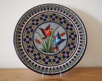 Decorative Plate - Bird Design - Mexican Ceramic Plate
