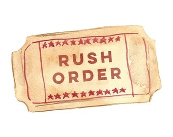 Rush Your Order- Shipped out in 1 or 2 Business Days