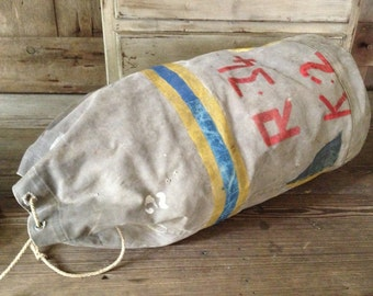 Canvas Duffel Duffle Bag Swiss Army 1940s WWII Sack Type Travel Camping School Gym Bag Holdall Large