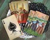 6 Swap Cards Poodles / Vintage Poodle Dog Cards by Arrco for Mixed Media, Collage, Scrapbooking, Journals, etc.