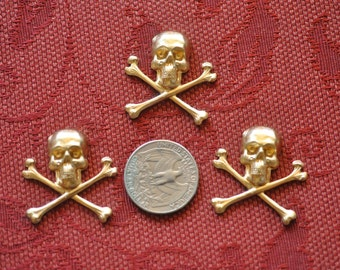 Three Medium Skull and Crossbones Decorative Elements  SHIPPING INCLUDED