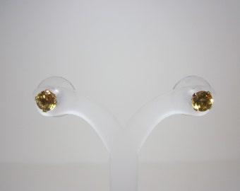 Citrine Earrings - 14k Yellow Gold
