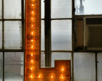 5 1/2' ft H Lighted Pallet Marquee Letters A-Z