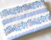 antique french pillow case pillow sham vintage pillow cover vintage bedding blue and pink  floral pillow case