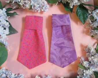 Pink or purple Dog Neck Tie Size Small