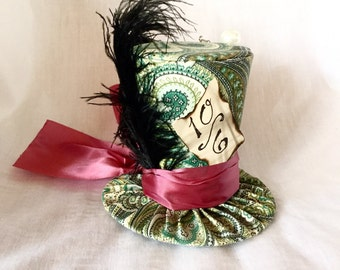 Tiny Top Hat: Classic Mad Hatter - The Mad Hatter Tea Party Alice in Wonderland Through the Looking Glass unbirthday Costume Cosplay party