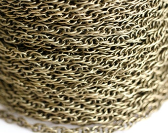32ft Antique Bronze Rope Chain 4m