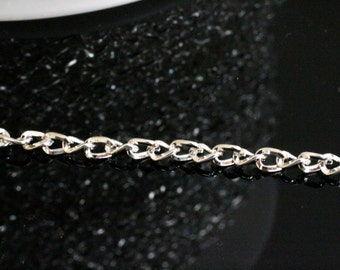 32ft Silver twist Chain 3.3x2.1mm-unsoldered
