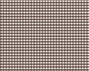 Brown Gingham (Small Check) Fabric by Riley Blake