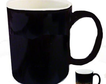 68 Blank Morph Mugs, Black and Blue