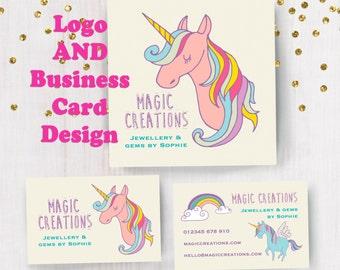 Personalised Magic Unicorn Logo and Business Card Design