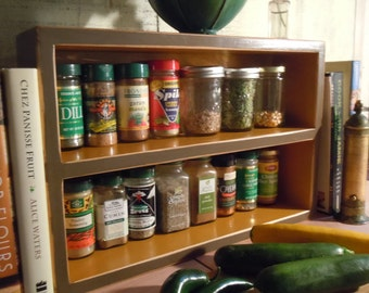 Spice Rack- Rustic Medium Free Standing Spice Rack - Made from Solid Pine