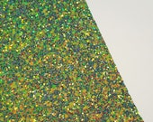 SALE 8x11 Fairy Forest Chunky Glitter Fabric Sheet