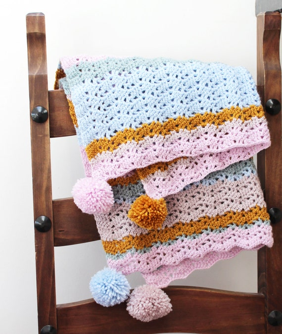 Crochet Pattern Isla Baby Blanket Instant Download