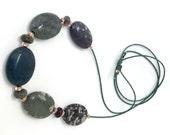 Leland Bluestone Sliding Stone Adjustable Necklace
