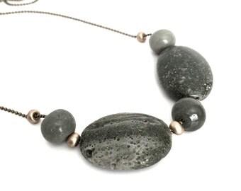 Leland Bluestone Sliding Stone Adjustable Necklace - Ball Chain