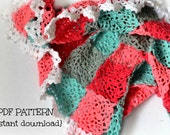 Crochet baby blanket pattern, crochet blanket pattern, Candy floss mini blanket, pattern no 132