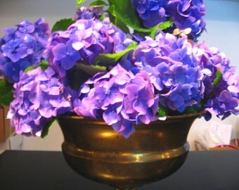 brass footed bowl flower vase centerpiece ornate planter vessel serving dish container storage