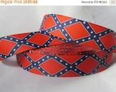 confederate flag ribbon, Rebel Flag ribbon, General Lee, Dukes of hazard, 7/8 inch Ribbon by the yard, Southern American, RN15275
