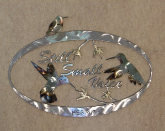 Hummingbird metal wall sculpture