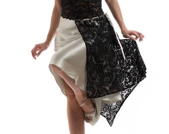 Argentine Tango skirt, lace skirt, dance wear, tango skirts, tango clothing, satin, silk skirt, traditional tango skirt