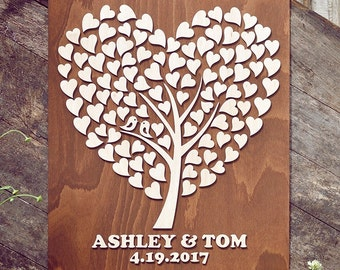 Wood Sign Guest Book Alternative 3D Wedding Wood Guest Book Rustic Wedding Guestbook Unique Custom Guest Book Rustic Wedding Guest Book