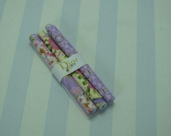 Gaël  Miniature Dollhouse Shabby Wrapping paper set  Miniature paper for Dollhouse, shabby chic  Home Decor Accessory. Handmade miniatures