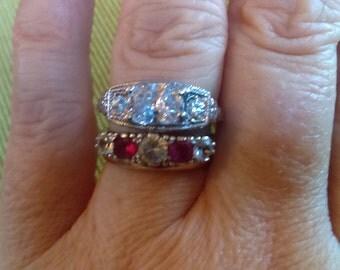 Antique Engagement Ring - Art Nouveau Style Engagement Ring