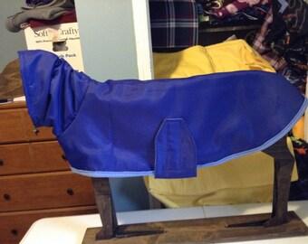 Greyhound nylon/fleece coat