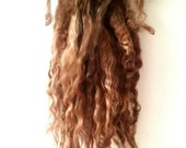 Beach Blonde - dolls hair, wool for spinning, Lincoln longwool super long locks reroot, dolls wig, blythe, waldorf doll hair, natural toy