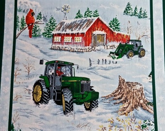 John Deere  Quilting Fabric 2 yd x 44 in
