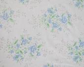 Vintage Sheet Fabric Fat Quarter - Blue Roses