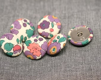 Liberty of London Betsy Purple Fabric Covered Buttons