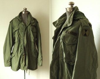 1968 M-65 Military Cold Weather Field Jacket Small Long Alpha Industries, Inc 7th Infantry Division