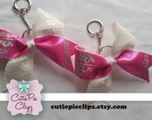 Big and Lil Sis Keychain Bows