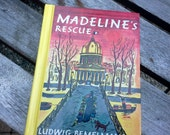 Madeline's Rescue by Ludwig Bemelmans children's book with full color cover, Penquin group, Viking hardcover classic story - french
