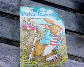 Peter Rabbit, Beatrix Potter book, Vintage hardcover Board Book for your toddlers childs library - The Tale of Peter Rabbit, Baby Board book