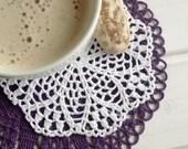 Crochet doily Small crochet doily White crochet doily Cotton lace coaster Small crochet doilies Crochet coasters Kitchen decor