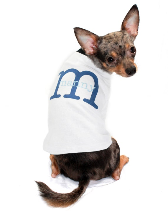 Dog Shirt Personalized Custom Name Initial Puppy Dog Pet Tee T Shirt
