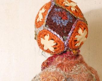 Chunky beanie Slouchy hat woman Orange knit hat Woman tam Orange beret Woman chunky hat Boho hat Woman gift Knit beanie Slouchy beanie hat